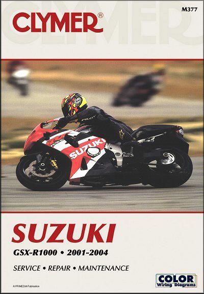 Suzuki GSX-R1000 2001 - 2004 Clymer Owners Service & Repair Manual - Front Cover