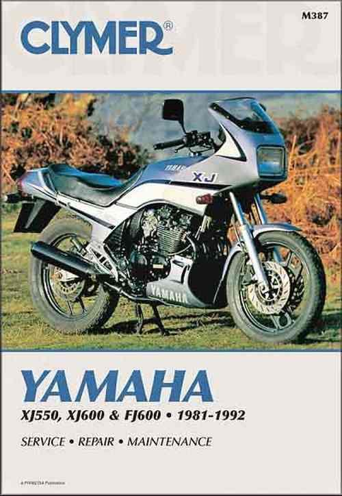 Yamaha FJ600, XJ550 & XJ600 1981 - 1992 Clymer Owners Service & Repair Manual - Front Cover