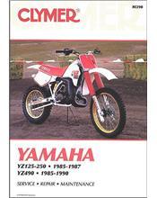 Yamaha YZ125, YZ250 & YZ490 1985 - 1990 Clymer Owners Service & Repair Manual