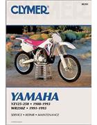 Yamaha YZ125, YZ250 & WR250 1988 - 1993 Clymer Owners Service & Repair Manual