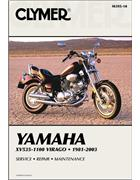 Yamaha XV535 - XV1100 Virago 1981 - 2003 Clymer Owners Service & Repair Manual