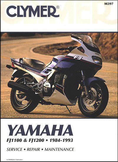 Yamaha FJ1100 & FJ1200 1984 - 1993 Clymer Owners Service & Repair Manual - Front Cover