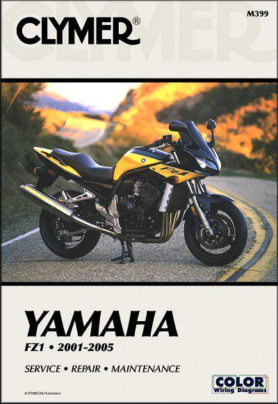 Yamaha FZ1 2001 - 2005 Clymer Owners Service & Repair Manual - Front Cover