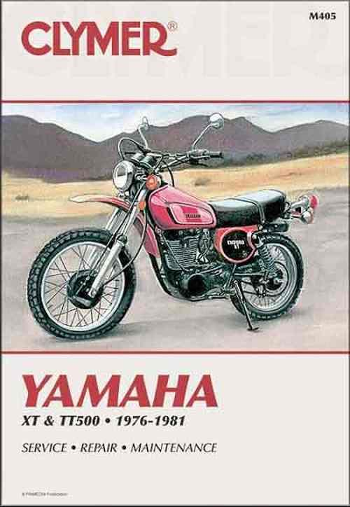 Yamaha XT500 & TT500 1976 - 1981 Clymer Owners Service & Repair Manual