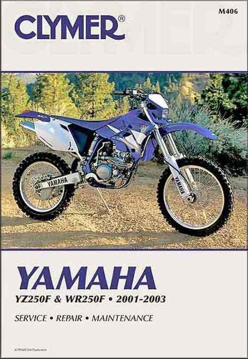 Yamaha YZ250F & WR250F 2001 - 2003 Clymer Owners Service & Repair Manual