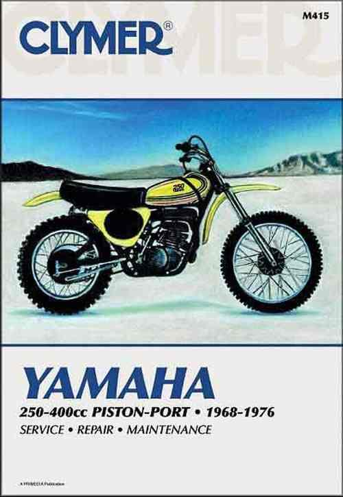 Yamaha 250cc - 400cc Piston Port 1968-1976 Clymer Owners Service & Repair Manual - Front Cover