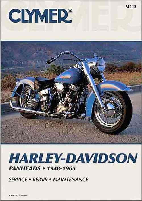 Harley-Davidson Panheads 1948 - 1965 Clymer Owners Service & Repair Manual - Front Cover