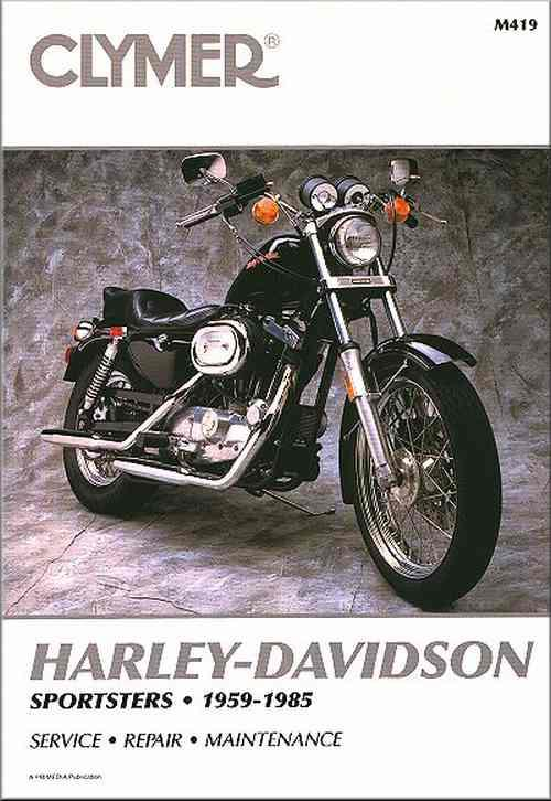 Harley-Davidson Sportsters 1959 - 1985 Clymer Owners Service & Repair Manual - Front Cover