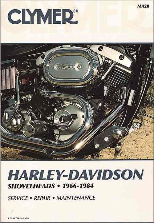 Harley Davidson Shovelheads 1966 - 1984 Clymer Owners Service & Repair Manual - Front Cover