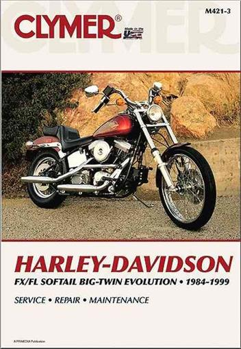 Harley-Davidson FLS/FXS Softail Big Twin Evolution 1984 - 1999 - Front Cover