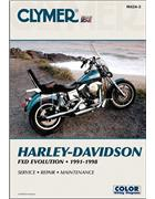Harley-Davidson FXD Evolution 1991 - 1998 Clymer Owners Service & Repair Manual - Front Cover