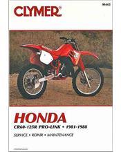 Honda CR60R-125R Pro-Link 1981 - 1988 Clymer Owners Service & Repair Manual