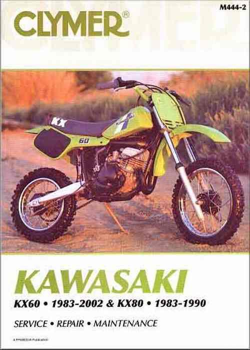 Kawasaki KX60 & KX80 1983 - 2002 Clymer Owners Service & Repair Manual - Front Cover
