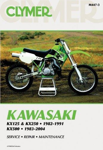 Kawasaki KX125, KX250 & KX500 1982 - 2004 Clymer Owners Service & Repair Manual - Front Cover