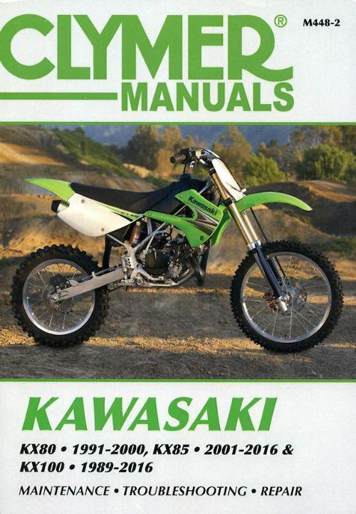 Kawasaki KX80, KX85 & KX100 1989 - 2016 Clymer Owners Service & Repair Manual