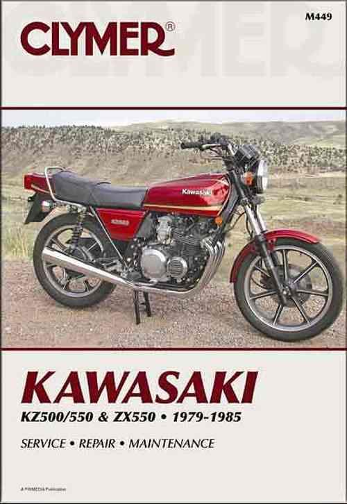 Kawasaki KZ500, KZ550, ZX550 1979 - 1985 Clymer Owners Service & Repair Manual