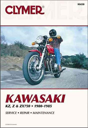 Kawasaki KZ750, Z750, ZX750 1980 - 1985 Clymer Owners Service & Repair Manual - Front Cover