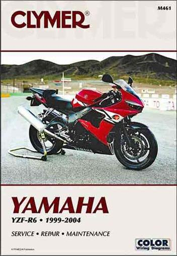 Yamaha YZF-R6 1999 - 2004 Clymer Owners Service & Repair Manual - Front Cover