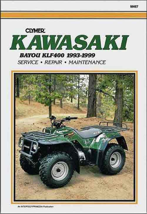 Kawasaki KLF400 Bayou 1993 - 1999 Clymer Owners Service & Repair Manual - Front Cover