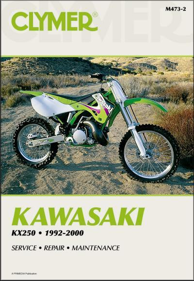 Kawasaki KX250 1992 - 2000 Clymer Owners Service & Repair Manual - Front Cover
