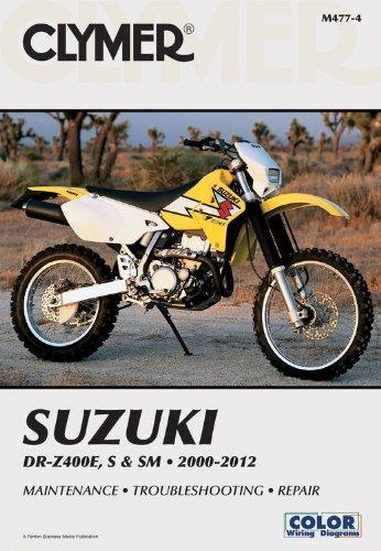 Suzuki DR-Z400E, S & SM 2000 - 2012 Clymer Owners Service & Repair Manual - Front Cover