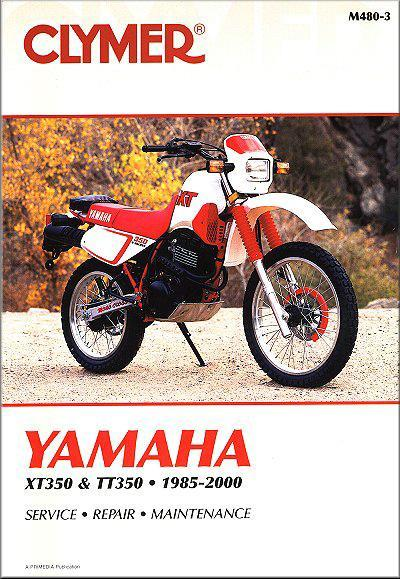 Yamaha XT350 & TT350 1985 - 2000 Clymer Owners Service & Repair Manual