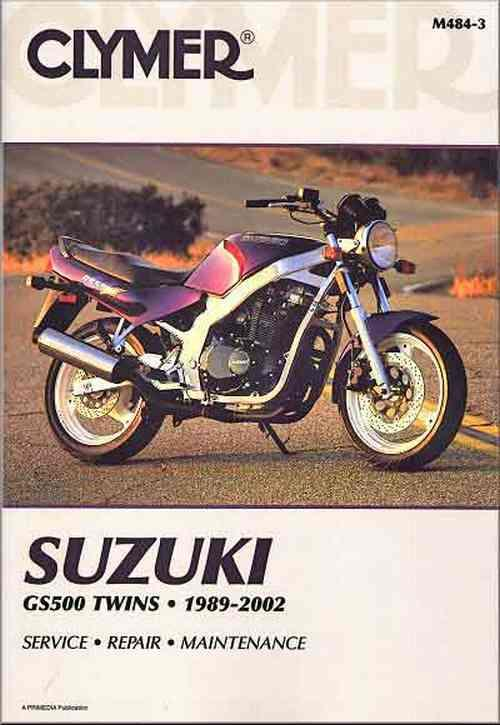 Suzuki GS500 Twin 1989 - 2002 Clymer Owners Service & Repair Manual - Front Cover