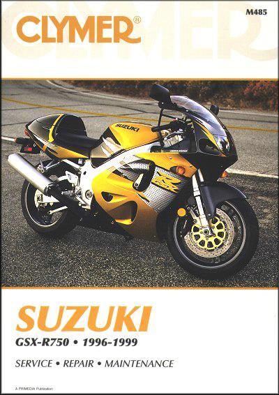 Suzuki GSX-R750 1996 - 1999 Clymer Owners Service & Repair Manual - Front Cover