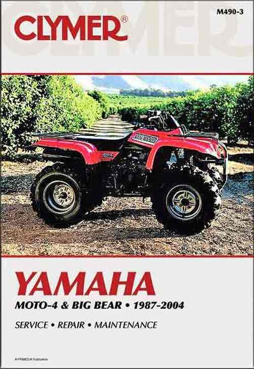 Yamaha Moto-4, Big Bear 1987 - 2004 Clymer Owners Service & Repair Manual - Front Cover