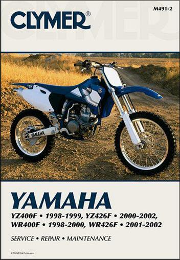 Yamaha YZF400F, YZ426F, WR400F & WR426F 1998 - 2002 - Front Cover
