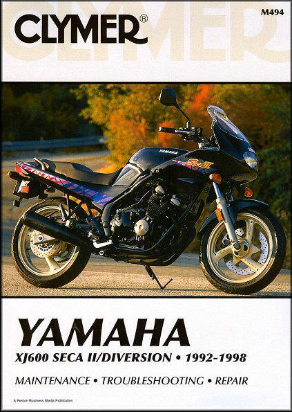 Yamaha XJ600 Seca II Diversion 1992 - 1998 Clymer Owners Service & Repair Manual