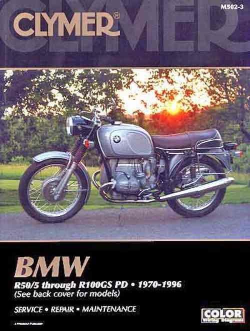 BMW R-Series 1970 - 1996 Clymer Owners Service & Repair Manual - Front Cover