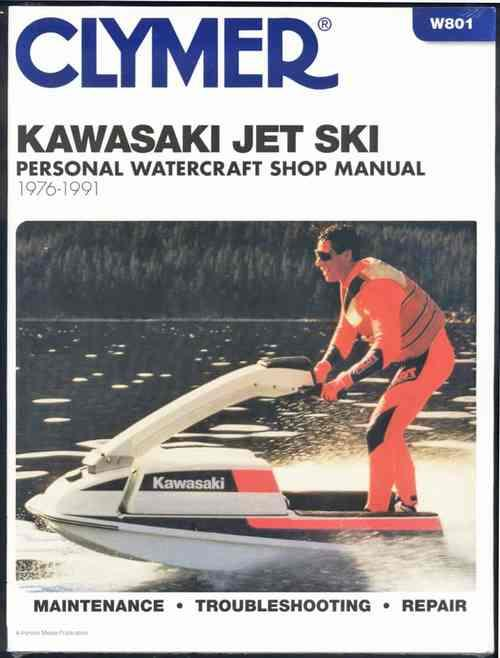 Kawasaki Jet Ski 1976 - 1991 Clymer Owners Marine Service & Repair Manual - Front Cover