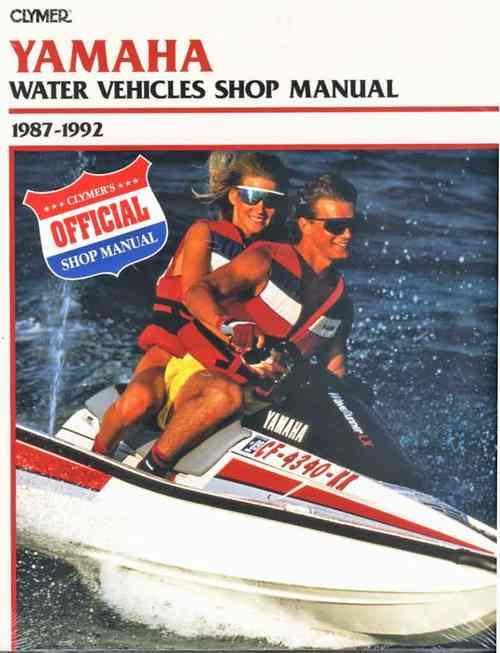 Yamaha Water Vehicles Jet Ski 1987 - 1992 - Front Cover