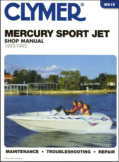 Mercury Sport Jet 1993 - 1995 Clymer Owners Marine Service & Repair Manual - Front Cover