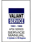 Chrysler Valiant AP5 & AP6 1963 - 1966 Service Repair Manual - Front Cover