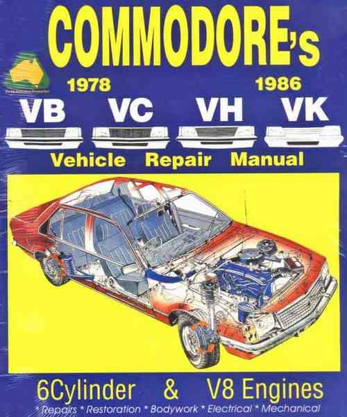 Holden Commodore VB, VC, VH & VK 1978 - 1986 Owners Service & Repair Manual - Front Cover