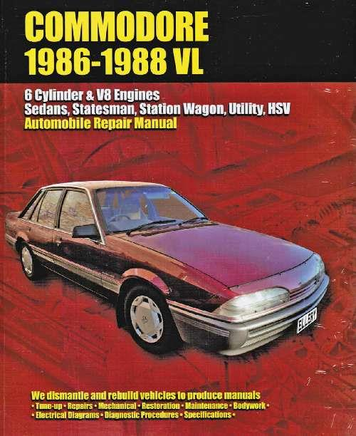 Holden Commodore VL 1986 - 1988 Owners Service & Repair Manual - Front Cover