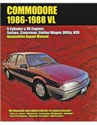 Holden Commodore VL 1986 - 1988 Owners Service & Repair Manual
