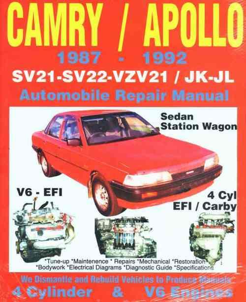 Toyota Camry & Holden Apollo (4 cyl & V6) 1987 - 1992 - Front Cover
