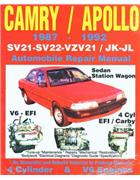 Toyota Camry & Holden Apollo (4 cyl & V6) 1987 - 1992
