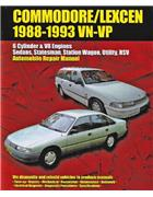 Holden Commodore Lexcen VN & VP 1988 - 1993 Owners Service & Repair Manual - Front Cover