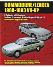 Holden Commodore / Lexcen (VN, VP Series) 1988 - 1993 Ellery Repair Manual