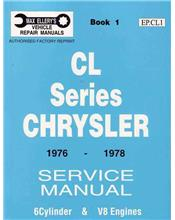 Chrysler Valiant CL Series 1976 - 1978 Service Manual : Book 1