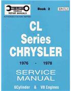 Chrysler Valiant CL Series 1976 - 1978 Service Manual : Book 2