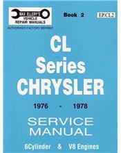 Chrysler Valiant CL Series 1976 - 1978 Service Manual : Book 2