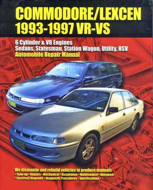 Holden Commodore Toyota Lexcen VR & VS 1993 - 1997 - Front Cover