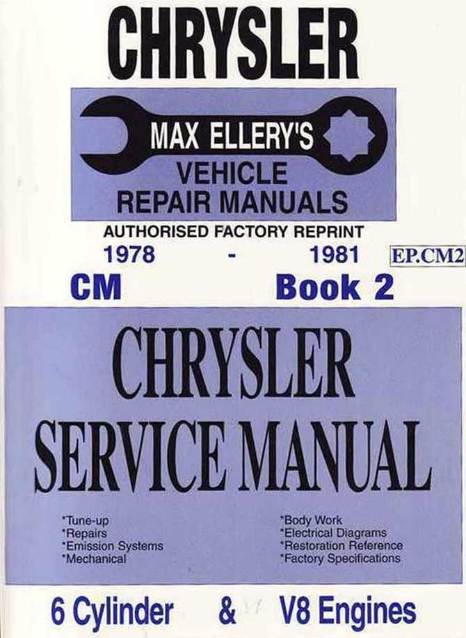 Chrysler Valiant CM Series 1978 - 1981 Service Manual : Book 2