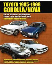 Toyota Corolla/Holden Nova Sedan, Seca & Hatch 1985 - 1998