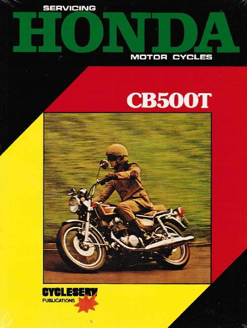 Honda CB500T Twin 1971 - 1976 Owners Service & Repair Manual - Front Cover